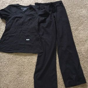 Grey's Anatomy 2 pc extra small black scrubs set